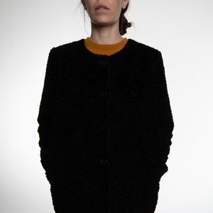 Black synthetic Rodebjer coat